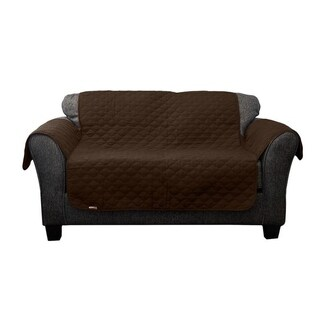 Quick Fit Coby Collection Geometric Quilted Reversible Loveseat Protector