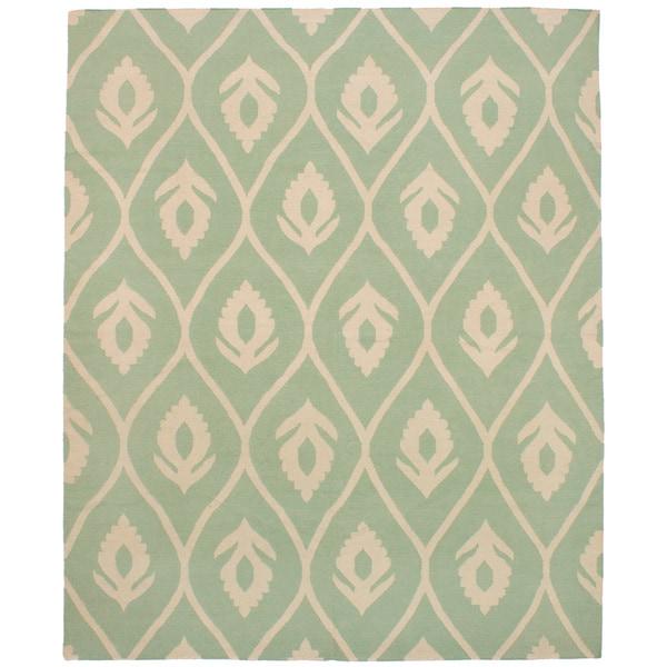 eCarpetGallery Ankara Kilim Green Wool Flatweave Area Rug - 8'5 x 9'11