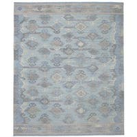 eCarpetGallery Flatweave Kozak 17119 Blue Wool Sumak Area Rug - 8' x 10'