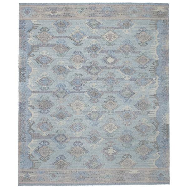 eCarpetGallery Flatweave Kozak 17119 Blue Wool Sumak Area Rug (8' x 10')