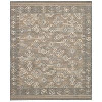 eCarpetGallery Kozak Grey Wool Flatweave Sumak Area Rug - 8' x 10'