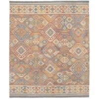 eCarpetGallery 17108 Kozak Red Wool Flatweave Sumak Rug (8'0 x 10'0)