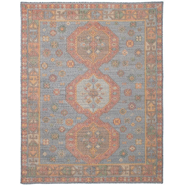 eCarpetGallery 17132 Kozak Blue Flatweave Wool Sumak Area Rug - 8' x 10'