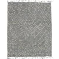 eCarpetGallery Tangier 20033 Grey Hand-knotted Wool/Cotton Area Rug (8' x 10')