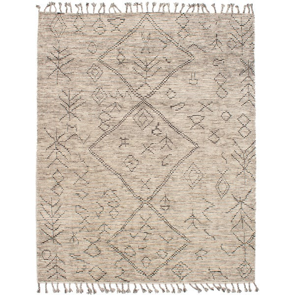 eCarpetGallery Tangier Ivory Wool Hand-knotted Rug - 8' x 10'