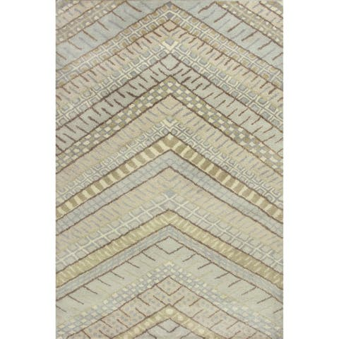 """KAS Amore Frost Chevron Rug - 5' x 7'6"""""""