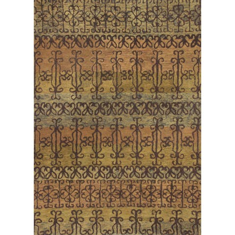 KAS Marrakesh Spice Syrian Hand-tufted Wool Rug