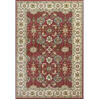 Shiraz Red/Ivory Mahal - 5'3 x 7'7