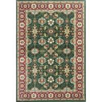 Shiraz Emerald/Red Mahal - 5'3 x 7'7