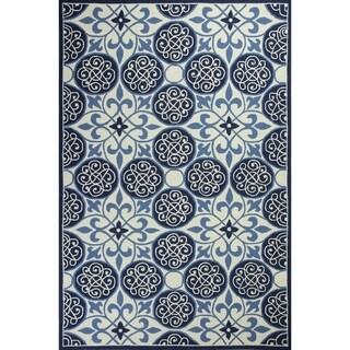 KAS Rugs Serendipity Blue Wool Area Rug (5'3 x 8'3)
