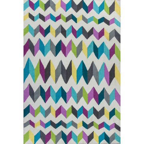 KAS Shelby Teal/Grey Kaleidoscope Rug