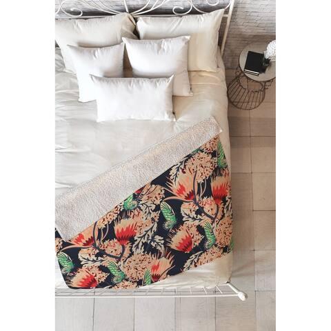 Holli Zollinger Boheme Butterfly Fleece Throw Blanket