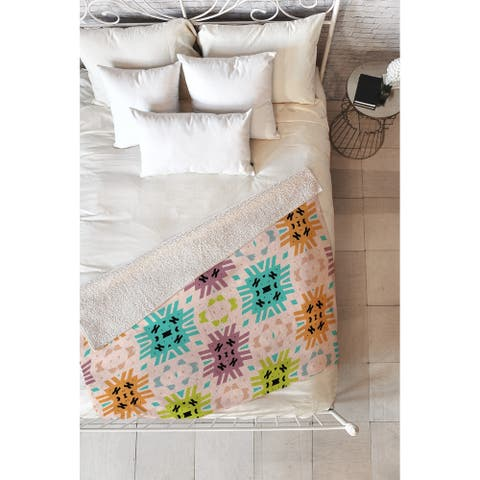 Lisa Argyropoulos Southwest Summer Fleece Throw Blanket