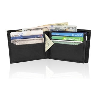 AFONiE RFID Blocking Genuine Leather Bi-fold Wallet