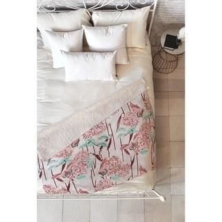 Holli Zollinger French Hydrangea Fleece Throw Blanket
