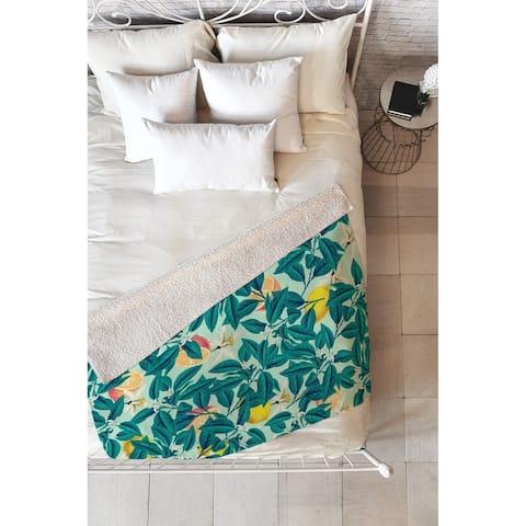 83 Oranges Lemon Pattern Fleece Throw Blanket