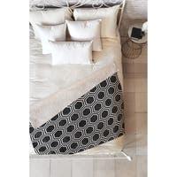 Kelly Haines Black Concrete Hexagons Fleece Throw Blanket