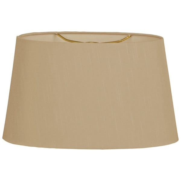 Royal Designs Shallow Oval Hardback Lamp Shade, Antique Gold, 14 x 16 x 9