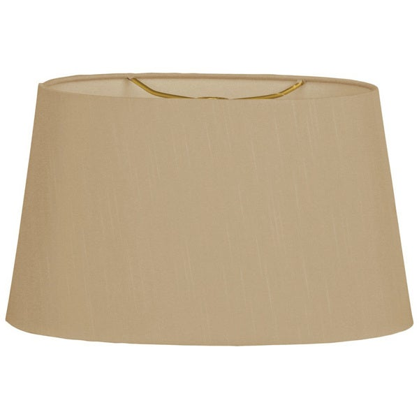 Royal Designs Shallow Oval Hardback Lamp Shade, Antique Gold, 12 x 14 x 8.5
