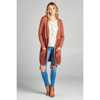 Spicy Mix Alivia Button Front Textured Knit Cardigan Sweater