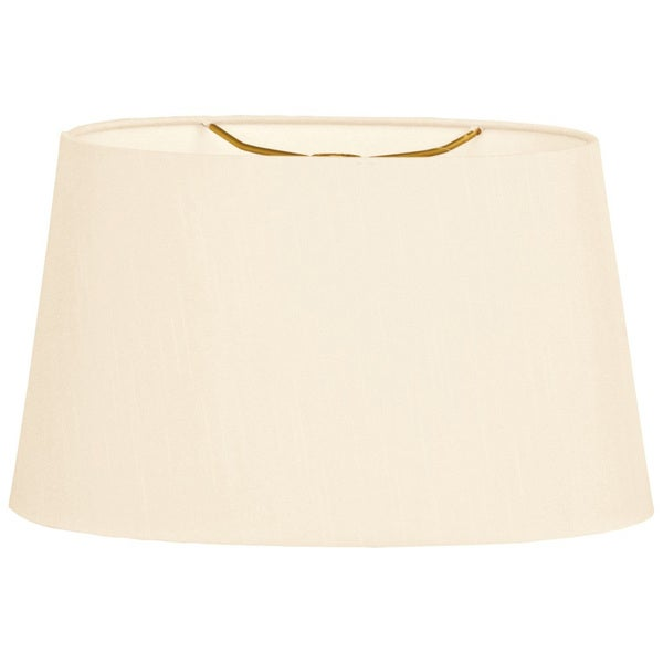 Royal Designs Shallow Oval Hardback Lamp Shade, Eggshell, 10 x 12 x 7