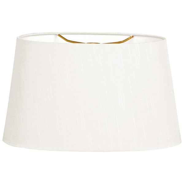 Royal Designs Shallow Oval Hardback Lamp Shade, White, 8 x 10 x 5.5