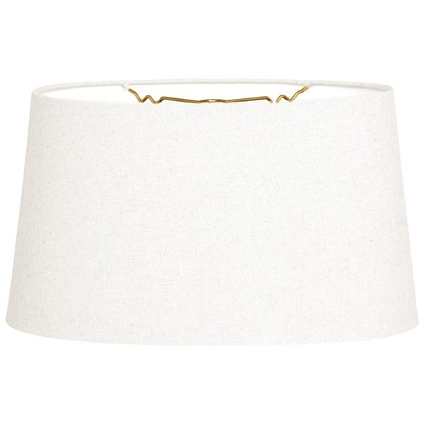 Royal Designs Shallow Oval Hardback Lamp Shade, Linen White, 8 x 10 x 5.5