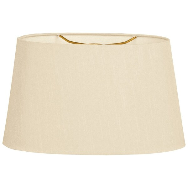 Royal Designs Shallow Oval Hardback Lamp Shade, Beige, 8 x 10 x 5.5