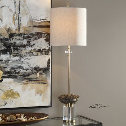 Uttermost Kiota Brushed Brass Wasp's Nest Buffet Table Lamp