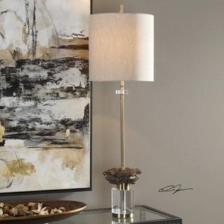 Uttermost Kiota Brushed Brass Wasp's Nest Buffet Table Lamp