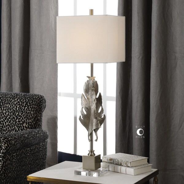 Uttermost Luma Metallic Silver Champagne Table Lamp