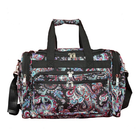 World Traveler Paisley 16-Inch Lightweight Carry-On Duffle Bag