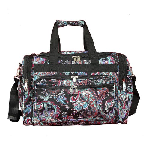 World Traveler Paisley 16-Inch Lightweight Carry-On Duffle Bag