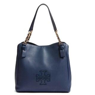 Tory Burch Harper Tory Navy Slouchy Satchel Handbag