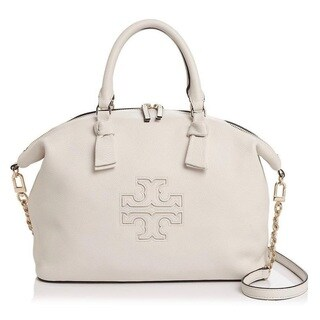 Tory Burch Harper New Ivory Slouchy Leather Satchel Handbag