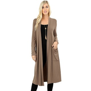 JED Women's Soft Fabric Long Cardigan with Pockets (More options available)