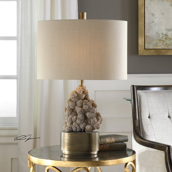Uttermost Desert Antique Bronze Rose Table Lamp