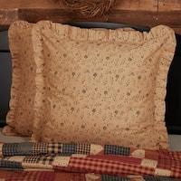 Tan Primitive Bedding VHC Maisie Euro Sham Cotton Floral - Flower