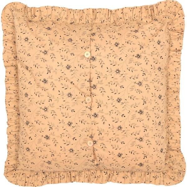 "BURLAP NATURAL Fringed 26/"" Euro Sham Primitive Tan//Khaki Cotton VHC BRANDS"