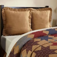Tan Primitive Bedding VHC Kindred Star Euro Sham Cotton Plaid
