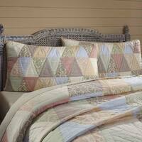White Farmhouse Bedding VHC Ava Sham Cotton Cambric