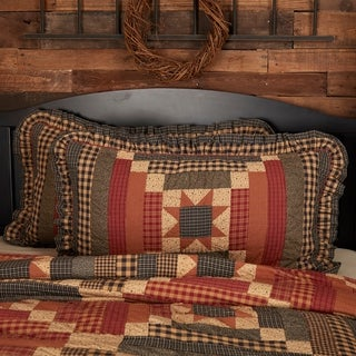 Tan Primitive Bedding VHC Maisie Sham Cotton Patchwork