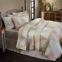White Farmhouse Bedding VHC Ava Quilt Cotton Patchwork Cambric