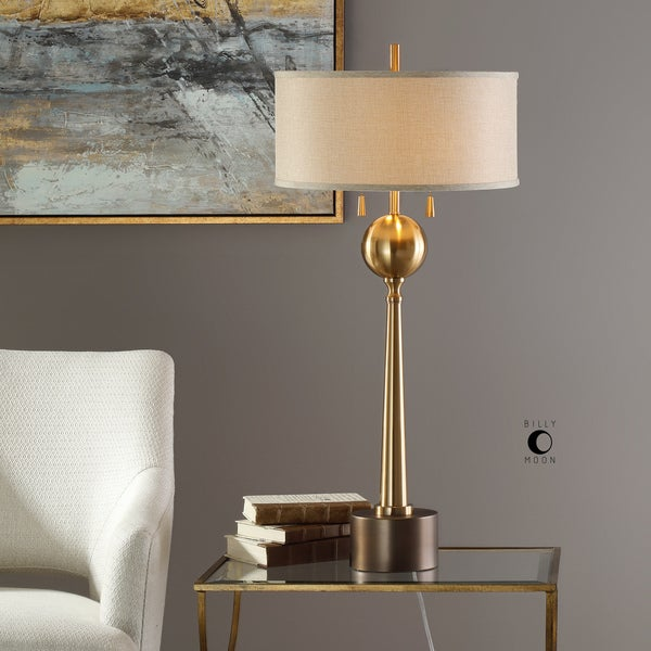 Uttermost Kensett Brushed Brass Finish Iron Table Lamp