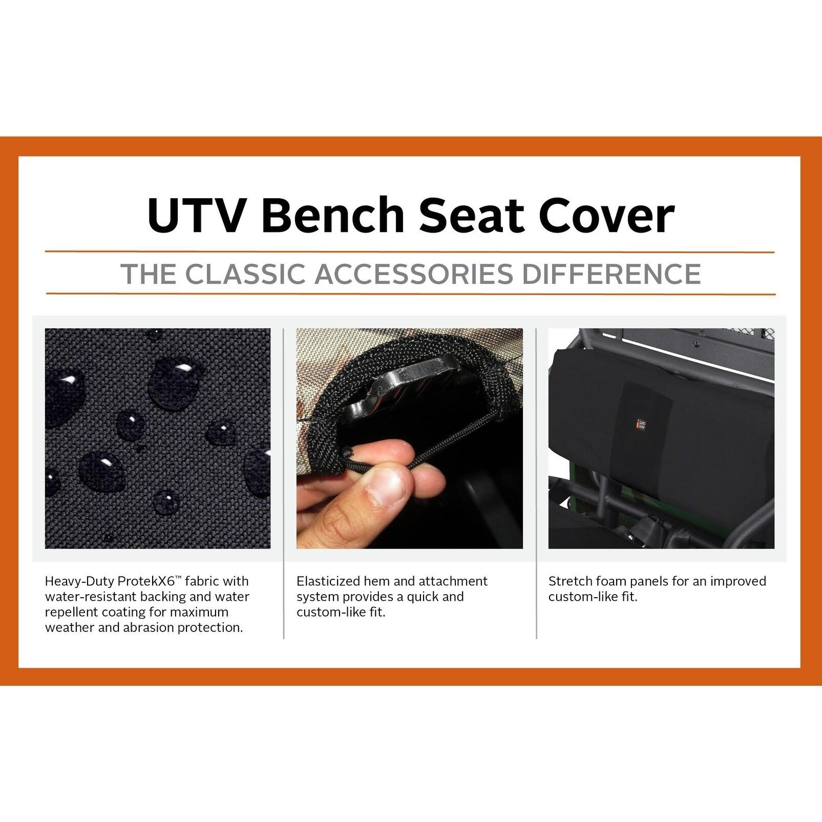 Classic Accessories QuadGear Black UTV Bucket Seat Cover