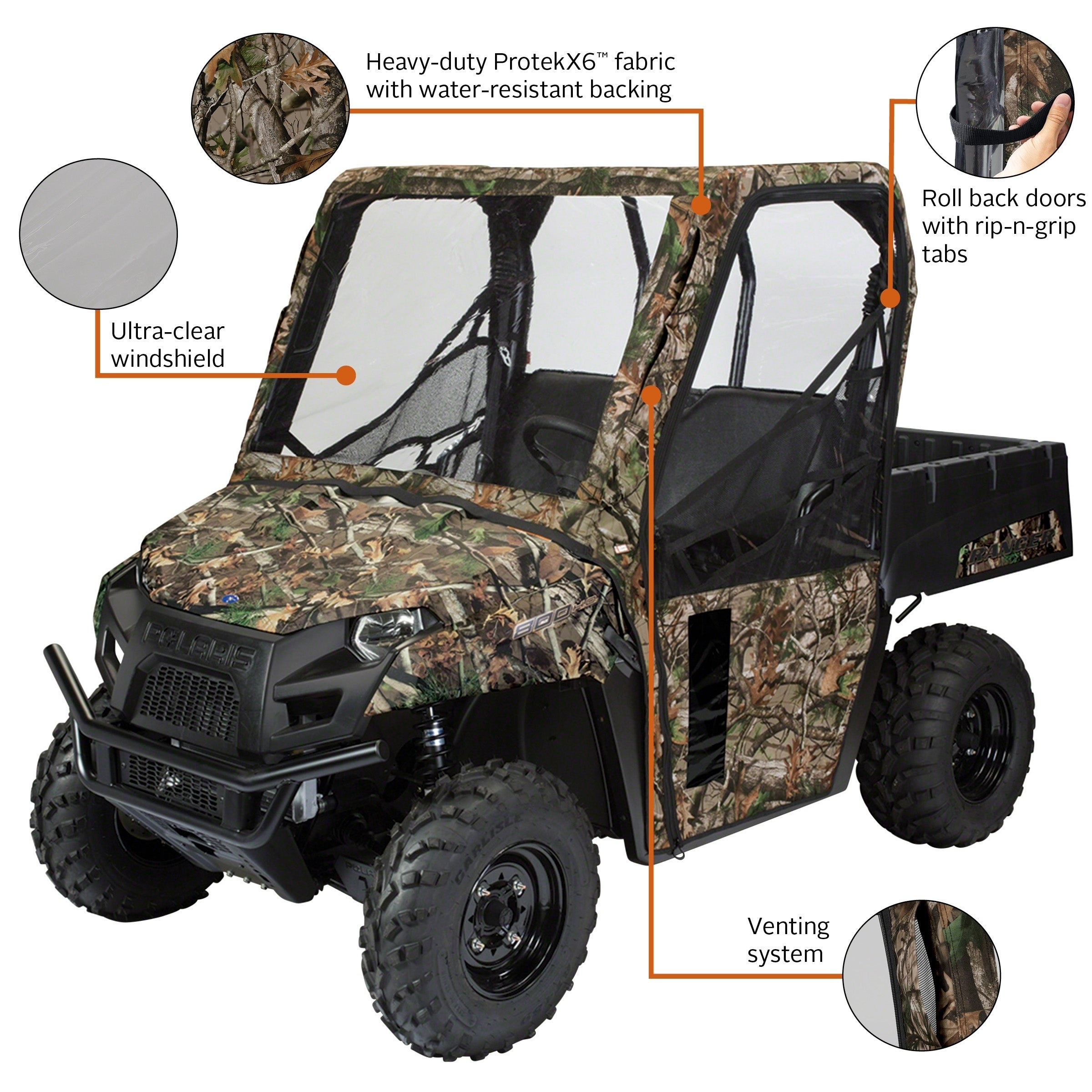 Classic Accessories Camo UTV Bench Seat Cover Polaris Ranger 400, 570, 800