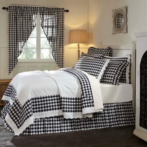 Farmhouse Bedding VHC Annie Buffalo Check Quilt Cotton Buffalo Check Patchwork