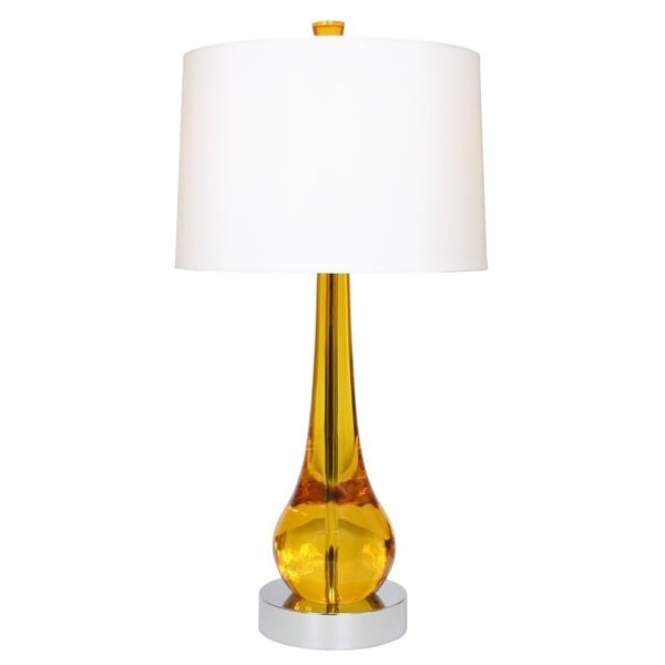 Van Teal Magic Goldtone/Chrome Metal/Acrylic 33-inch Table Lamp