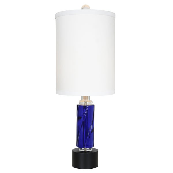 Van Teal 634372 Rhapsody Chrome-finish Blue Metal and Acrylic 30.5-inch Table Lamp