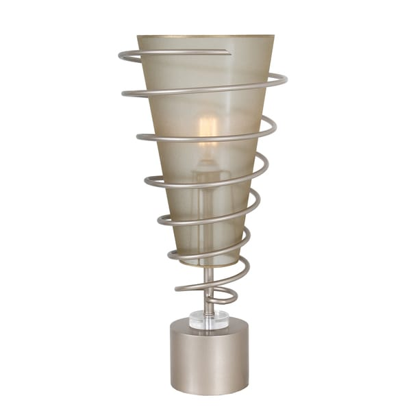 Van Teal Jazz Up 633572 Goldtone and Silvertone Metal and Acrylic 27-inch Spiral Table Lamp